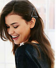 Fashion Silver Gold color Triangle Hair Clip accessory womens love Hair Jewelry