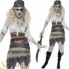 Ladies Ghostship Pirate Costume Halloween Fancy Dress Ghost Zombie Adult Outfit