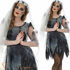 Ladies Black Zombie Corpse Bride Halloween Fancy Dress Costume Outfit Sizes 8-22