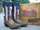 NEW Ladies Laredo Keyes Stars and Stripes Patriotic Leather Western Cowboy Boots