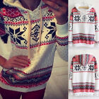 Womens Hoodie Hoody Sweatshirt Christmas Tops Snowflake Ladies Sweater Pullover