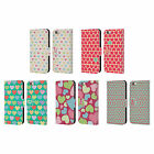 HEAD CASE DESIGNS HEART PATTERN LEATHER BOOK WALLET CASE FOR APPLE iPHONE PHONES
