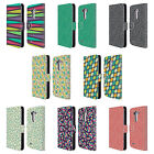 HEAD CASE DESIGNS LEAF PATTERNS 2 LEATHER BOOK WALLET CASE COVER FOR LG PHONES 1