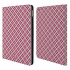 HEAD CASE DESIGNS PLAID PATTERN LEATHER BOOK WALLET CASE COVER FOR APPLE iPAD