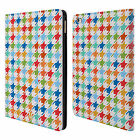 HEAD CASE DESIGNS HOUNDSTOOTH PATTERNS LEATHER BOOK WALLET CASE FOR APPLE iPAD