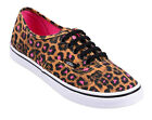 Vans AUTHENTIC Lo Pro LEOPARD Magenta Sneakers Rockabilly Retro 50s pattern