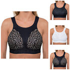 Ladies Sports Bra High Impact Non Wired Plus Size Running Unpadded Large Cups UK