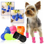 HOT Cute Dog Rain Boots PU Protective Waterproof Pet Shoes For Small Dog Size S
