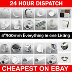 """4"""" 100mm Plastic Round Kitchen Ducting Ventilation Duct Pipe Tube Extractor Fan"""
