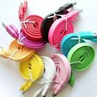 3FT No-Tangle Flat Charger Sync Cable For Samsung Galaxy S5 Note 3 III LG G Flex