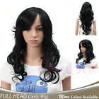 Onedor® Long Synthetic Stylish Curly Wig Spiky Fluffy Layered Full Head Wigs
