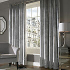 Ashley Wilde Lux Silver Grey Velvet Stripe Eyelet Ring Top Huge Heavy Curtains