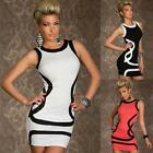 Sexy Womens Mini Slim Sleeveless Round Neck Party Clubwear Pencil Dress Fad AUJR