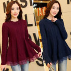 Long Sleeve Loose Coat Woolen Sweater Women Outwear Knitted Cardigan Jumper TopS
