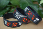 """Tonight Alive Silicone 1"""" Wide Debossed Filled in Colour Wristband Bracelet"""