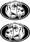 2 Cesky Fousek dog breed oval RIGHT  LEFT decals sticker stickers