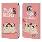 HEAD CASE DESIGNS PIPER THE PUG LEATHER BOOK WALLET CASE FOR SAMSUNG PHONES 2