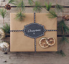 Assorted Plain Chalk Tag Kit with Kraft Wrapping Paper Sheets