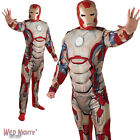 """FANCY DRESS COSTUME ~ ADULT MENS MARVEL IRON MAN 3 DELUXE SIZES 36""""-50"""" CHEST"""