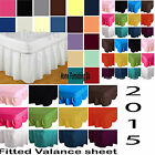 Poly Cotton Plain Dyed FITTED VALANCE SHEETS Single Double Pair Pillowcases