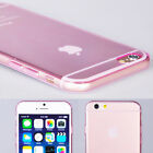 Ultra Slim Pink Crystal Clear Soft Silicone/ Gel/ TPU Case For iPhone 6s Plus 6s
