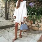 ZARA PUFF SLEEVE SUMMER CASUAL DRESS SIZE XS_S_M