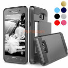 Rugged Armor Bumper Wallet Slide Case Cover for Samsung Galaxy Note 5 S6 Edge+