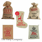 Large Hessian Christmas Xmas Sacks & Stockings Great Designs & Great Quality!