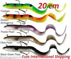 SAVAGE GEAR REAL EEL READY TO FISH 20CM lure for Pike, Zander,all FREE SHIPPING!