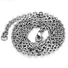Men Women Titanium Stainless Steel Snake Chain Necklace Anti-allergy DF2011