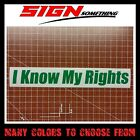 I Know My Rights Decal / Sticker constitution