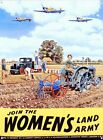 New Join the Women's Land Army Land Girls Metal Tin Sign