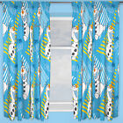 Disney Frozen Chillin Olaf Snowman Blue White Kids Childrens Ready Made Curtains