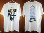 Los Angeles Chargers NFL Men's White T-Shirt Tee Lightning Bolt NEW San Diego LA $9.99 USD on eBay