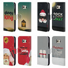 HEAD CASE DESIGNS CHRISTMAS CAROLS LEATHER BOOK WALLET CASE FOR SAMSUNG PHONES 1