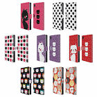 HEAD CASE DESIGNS CATS AND DOTS LEATHER BOOK WALLET CASE COVER FOR SONY PHONES 1
