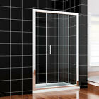 Walk in 1000/1100/1200/1300/1400/1500mm Sliding Shower Door and Tray Free waste