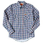 Wrangler FR Lightweight Work Shirt - Blue/Red Plaid - Flame Resistant
