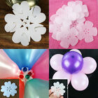 5/10/20pc FLOWER BALLOON CLIP TIES DECORATIVE STICK N CUPS BALLOONS MORE CLASSIC