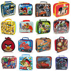 Kids Boys Superhero Disney Marvel Character Lunch Bags - Batman Cars & More