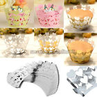 25pc Heart Vine Cupcake Cake Cup Wrappers Wrap Paper Case Wedding Birthday Party