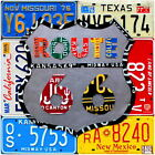Route 66 State License Plates Wall Decal Garage Vintage Style Decor