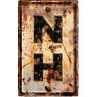 New Hampshire NH State Abbreviation Weathered Wall Decal Highway Decor