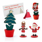 2 x Table Place Setting Name Card Holder Christmas Party Decoration Santa Xmas