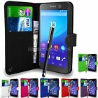 WALLET CASE POUCH PU LEATHER COVER FOR SONY XPERIA M5 MOBILE PHONE