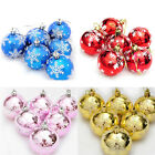 6X Christmas Tree Decorations Xmas Balls Baubles Party Wedding Home Ornament AJR