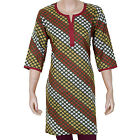 Ethnic Indian Green Printed Cotton Women Kurti Kurta  - 904041