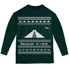 Ancient Aliens Ugly Christmas Sweater Forest Youth Long Sleeve T-Shirt