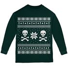 Skull & Crossbones Ugly Christmas Sweater Forest Youth Long Sleeve T-Shirt