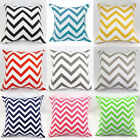 New Arrival Waved Stripes Cotton Linen Throw Pillow Cases Cushion Cover #H30a